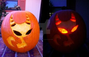 Invader Zim Mimi Pumpkin by InvaderAli87