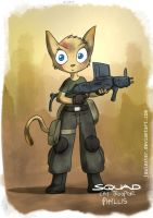 Cat trooper Phyllis by joulester