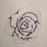 Stippled Rose by MaelidMuse