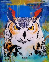 Great Horned Owl by abcartattack