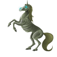 Undead Zombi Unicorn by SaintWho