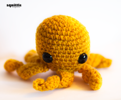 Yellow Octopus Plush by candypow