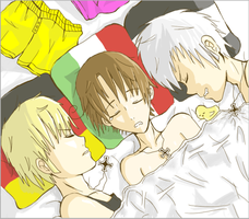 Germany x Italy x Prussia by YaoiFanFic