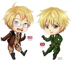 Chibi US and UK by JJbananasaur