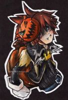 KH. Chibi Sora+Halloween by Littlemoon1502