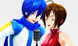 MMD Singing With You by Shichi-4134
