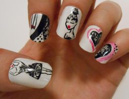 Ballerina nails :) by henzy89