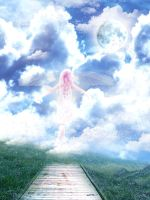 Little girl, flying to heaven by Heaven666