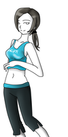 Wii Fit trainer by Fear-Immortal