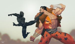 Black Panther vs Kraven by pacman23