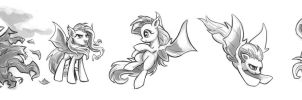 Flutterbat Sketches #3 by KP-ShadowSquirrel