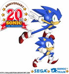 Sonic Generations - 20th Anniv by wallacexteam