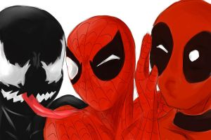 Venom, Spidey, Deadpool by SylvieZ