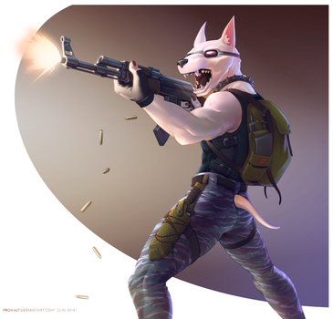 Military dog by froxalt
