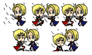 APH: Revolutionary War America and England shimeji by TionneDawnstar