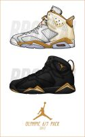 2012 Air Jordan Olympic 6 - 7 Pack by BBoyKai91