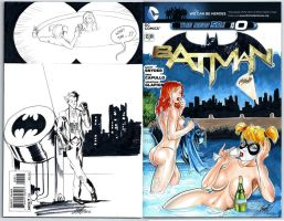 Commission Blank Batman both covers by HM1art