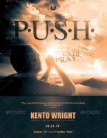 P.U.S.H. Church Flyer Template by loswl