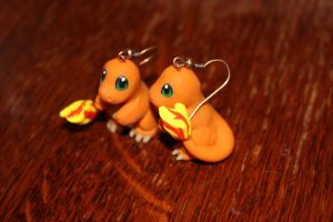 Charmander Earrings by Melyon