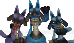 MMD Lucario by Cherrysan94
