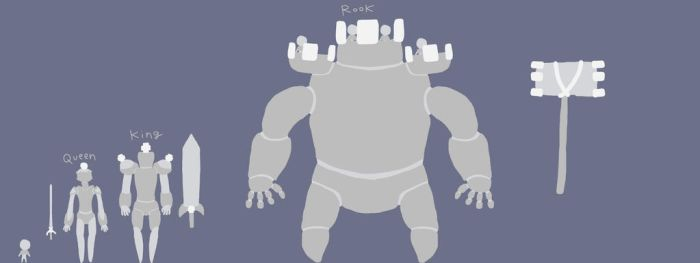 Sir Whites Golems pt2 [Rook, Queen and King] by EnderSkyLord