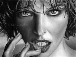 Milla Jovovich Drawing by KJS-1