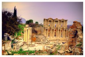 ephesus library by chirkhef