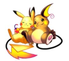 Raichu and Pikachu by Minichi-01