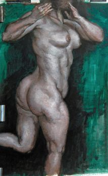 torsion - figure study in acrylic by roy-p