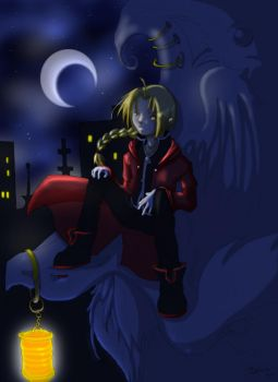 City Moonlight -Edward Elric- by demon-tears