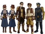 Steampunk Commission Set by bchart