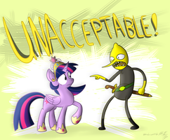 Princess Twilight Sparkle Meets Earl of Lemongrab by Wonder-Waffle