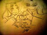Heart Kanon and Mu draw by x-Alone