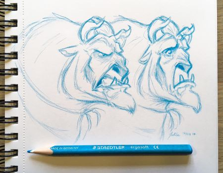 The Beast sketches (Beauty and the Beast) by Shuploc