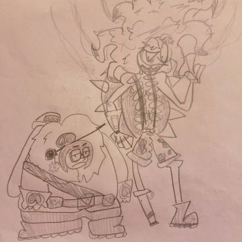 Mei and Junkrat by MegaboatmaN