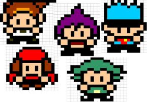 SHAMAN KING SPRITES by vky23