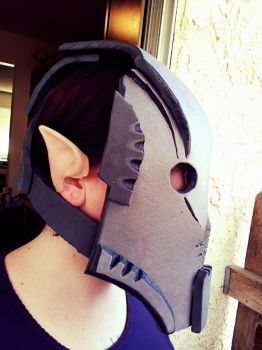 Marauder Mask 2 - Sands of Ikkera WIP by JadenTracyn