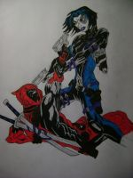 Deadpool and Domino by MentosMan