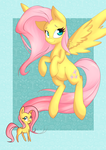 Bronycan't Print: Fluttershy by lilfaux