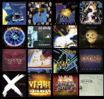 Def Leppard Albums by TeeStall