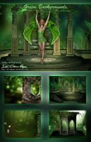 green backgrounds___! by SK-DIGIART