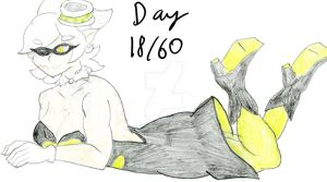 Pose 18: Laying on the Stomach (Go Team Marie!) by CutieAngel999