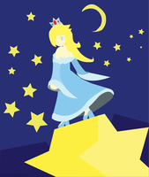 Rosalina of the Stars :Illustrator Lineless Color: by Xero-J