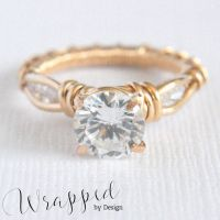 3 Stone Wire Wrapped Ring by WrappedbyDesign