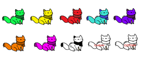 Kitty Adopts 4- Rainbow Cats Free! by superstel