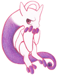 Small: Mega Mewtwo by ColorMyMemory