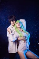 Lelouch and C.C. by GarnetTilAlexandros