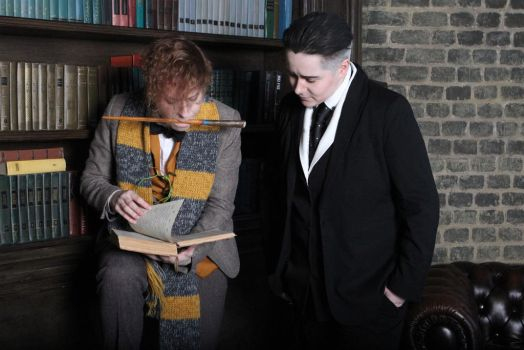 Newt Scamander and Percival Graves cosplay by MigraineSky