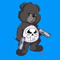 Punisher Care Bear by amydrewthat