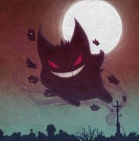 Gengar run this town by Amerelle